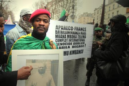 """Manifestation """"Kabila dégage"""", Paris 2011"""